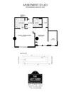 1 Bed/ 1 Bath/ Den- Courtyard - 953 sq/ft